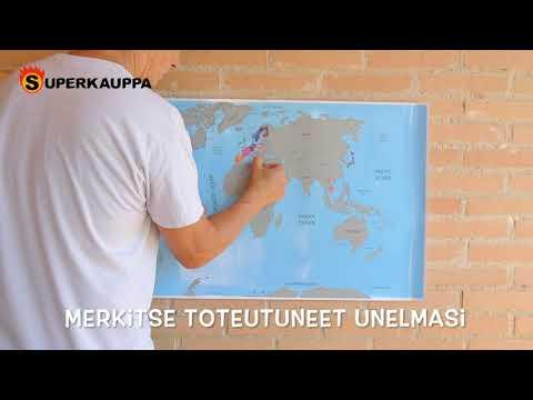 Raaputettava maailmankartta esittelyvideo