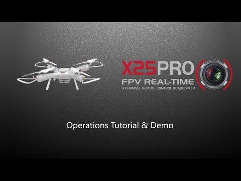 Syma X25 Pro Operations Tutorial & Demo