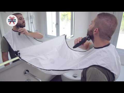 Beard Bib Beard trimming catcher apron with suction cups