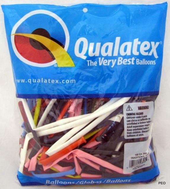 Qualatex 260Q taikurin ilmapallot, 100 kpl