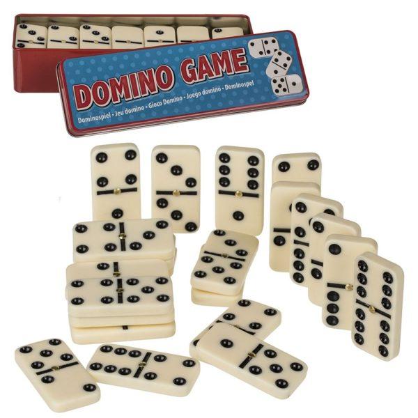 Perinteinen dominopeli metallirasiassa