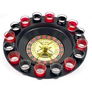 Juomapeli Drinking roulette -shottiruletti